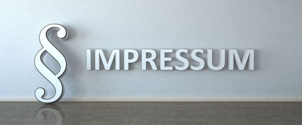 Impressum in detailed information and explanation: